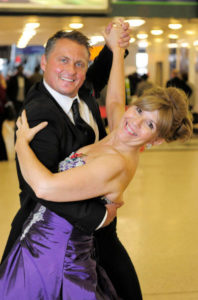 Maggie Plilbin and Darren Gough