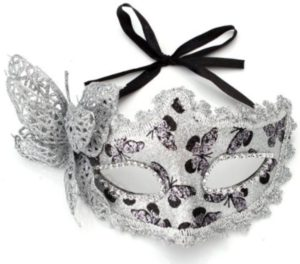 Masquerade Mask - Silver Butterfly