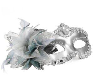 Masquerade Mask - Princess Silver