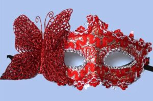 Masquerade Mask - Red Butterfly