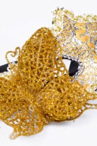 Masquerade Mask - Gold Butterfly
